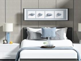 双人床 3d模型