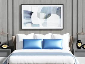 卧室双人床3D模型