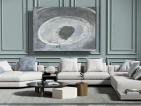 现代时尚沙发茶几 3d模型