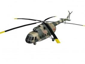 俄罗斯米8军用直升机 3d模型