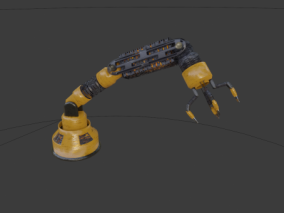 PBR带绑定动画机械手臂 自动机器人 科幻 自动化