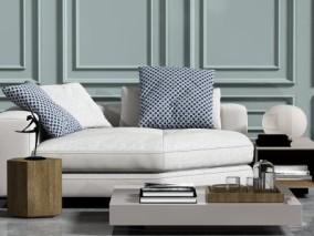 现代时尚 简约沙发茶几 3d模型