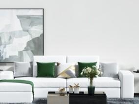 现代轻奢沙发茶几 3d模型