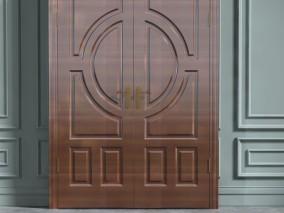 门 红色木门 3d模型
