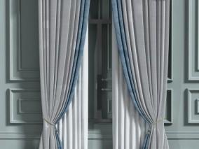 现代家庭窗帘 3d模型