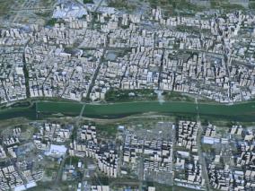 咸阳市模型 咸阳市智慧城市模型