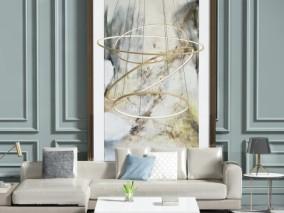 现代客厅 沙发茶几 3d模型