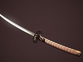 武士刀日本刀CG模型