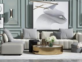 室内 卧室 客厅 沙发茶几 3d模型