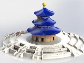 祈年殿北京天坛 3d模型