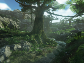 ue4 超写实大自然景色 热带森林