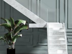 现代楼梯组合 3d模型