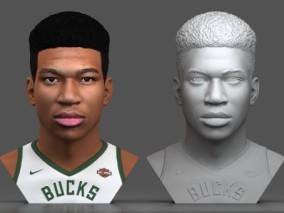 扬尼斯·阿德托昆博 NBA球星 篮球运动员字母哥头雕