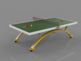 乒乓球台CG模型