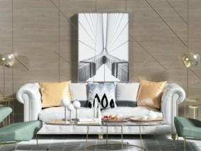 沙发 3d模型