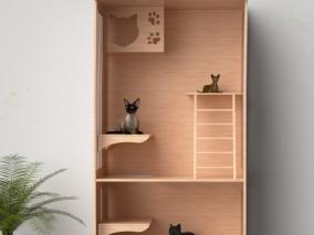 猫爬架 3d模型