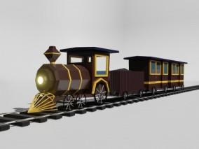 火车  3d模型