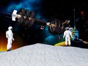 人造卫星 3d模型