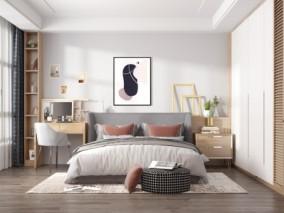 卧室 3d模型