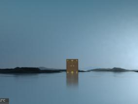 湖面风景 3d模型