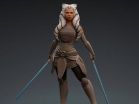 星球大战克隆人战争人物雕塑CG模型