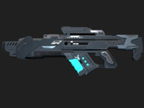 PBR-科幻能量步枪3D模型