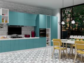 现代风格别墅厨房 3d模型