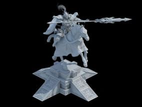 石像 将军 骑马 雕像 雕 3d模型