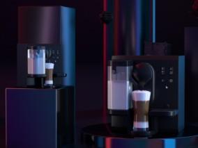 咖啡机C4D模型