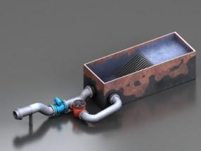 过滤水设备 污水处理器CG模型