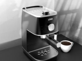 磨砂咖啡机CG模型