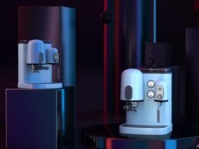 白色咖啡机CG模型