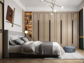 现代主卧衣柜 3d模型
