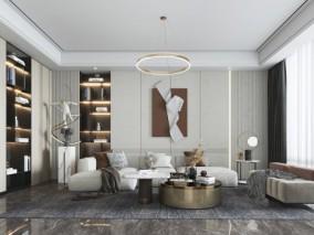 客厅 3d模型