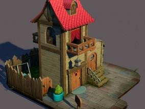古代Q版建筑模型