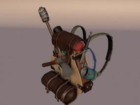次世代PBR 登山包 作战双肩包 弹药包 野战包 户外军用包 打猎包 3d模型