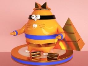 橘猫 3d模型
