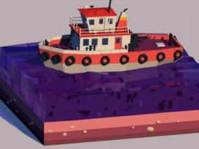船 3d模型
