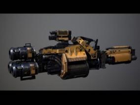 激光枪 激光炮 科幻武器 科幻枪 3d模型