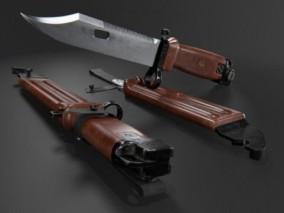 匕首  刀子 3d模型