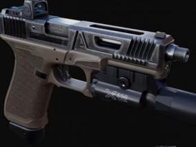 手枪 3d模型