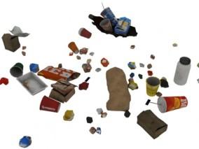 垃圾堆 垃圾 3d模型