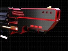 赛博朋克 科技感枪 3d模型