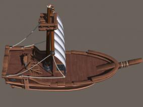 PBR材质卡通船场景BigShip01 3d模型