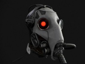 科幻面具防毒面具CG模型