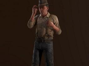 探矿者探险者老人CG模型