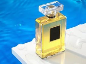 香水 化妆品组合 美容彩妆用品 爽肤水 典雅泳池 3d模型