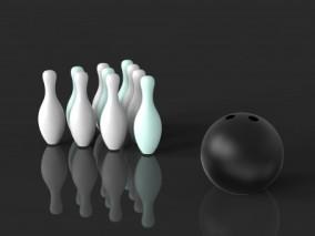 保龄球场景 乐园保龄球馆 轨道bowlingset 奥运会健身体育 3d模型
