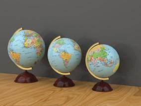 地球仪 教学地球仪 各种尺寸 3d模型