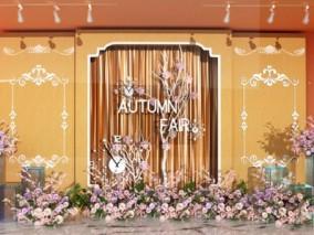 鲜花 花堆 梅花 桃花 橱窗,服装店橱窗